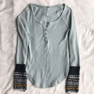 Free People Henley Thermal XS